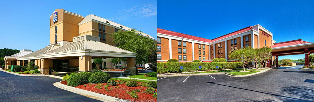 Best Western Plus and Hampton Inn