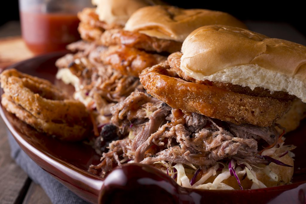 Pulled Pork Barbecue Sandwiches.